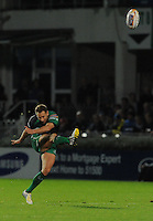 26th October 2013; Dan Parks kicks to score a penalty for Connacht. Rabodirect Pro12, Leinster v Connacht, Royal Dublin Society, Dublin. Picture credit: Tommy Grealy/actionshots.ie.