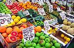 AMFY3D Fruit and vegetables Halesworth market Suffolk England