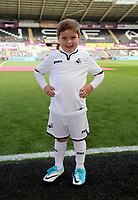 Children mascots during the Premier League match between Swansea City and Watford at The Liberty Stadium, Swansea, Wales, UK. Saturday 23 September 2017