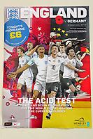 Plakat und Programmheft zum Klassiker England vs. Deutschland - 10.11.2017: England vs. Deutschland, Freundschaftsspiel, Wembley Stadium