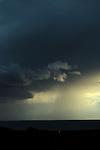 A dark stormy sky