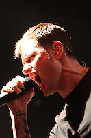 Lead singer Al Barr of the Dropkick Murphys performing at Ritz Ybor on March 5, 2010 in Tampa, Florida.  (Mike Janes/Four Seam Images)