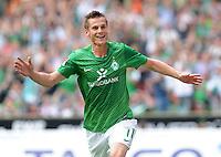 FUSSBALL   1. BUNDESLIGA   SAISON 2011/2012    1. SPIELTAG SV Werder Bremen - 1. FC Kaiserslautern             06.08.2011 Markus ROSENBERG (Werder Bremen) jubelt nach seinem Tor zum 1:0