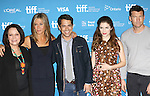 Adriana Barazza, Jennifer Aniston director Daniel Barazza, Anna Kendrick and Sam Worthington during the Photo Call for 'Cake' at the the tiff Bell Lightbox during the 2014 Toronto International Film Festival on September 9, 2014 in Toronto, Canada.