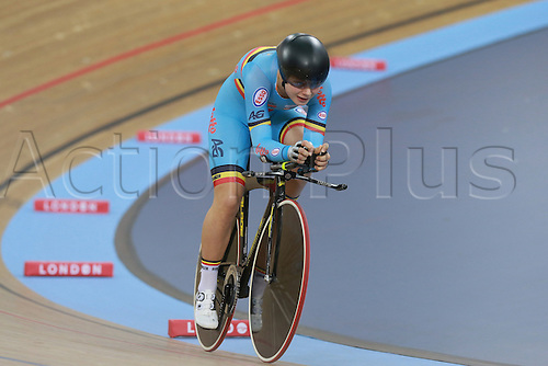 02.03.2016. Lee Valley Velo Centre, London, England. UCI Track Cycling World Championships Womens Individual Pursuit.  Lotte Kopecky (BEL)
