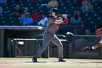 Salt River Rafters first baseman Pavin Smith (44), of the Arizona Diamondbacks organization, at bat during an Arizona Fall League game against the Surprise Saguaros on October 9, 2018 at Surprise Stadium in Surprise, Arizona. The Rafters defeated the Saguaros 10-8. (Zachary Lucy/Four Seam Images)