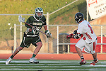 Redondo Beach, CA 05/11/10 - Cole Russert (MC # 15) and Zack Henkhaus (PV # 12) in action during the 2010 Los Angeles Boys Lacrosse championship game, Mira Costa defeated Palos Verdes 12-10 at Redondo Union High School.