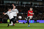 Scott McTominay of Manchester United shoots during the FA Cup match at the Pride Park Stadium, Derby. Picture date: 5th March 2020. Picture credit should read: Darren Staples/Sportimage