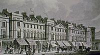 171-195 Regent Street, London. Part of East Side. Antique print.