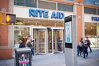 A store in the Rite Aid drugstore chain in New York on Sunday, April 23, 2017. The Federal Trade Commission is considering fling a lawsuit to block the Walgreens Boots Alliance-Rite Aid acquisition. Rite Aid is scheduled to release first-quarter earnings son April 27. (© Richard B. Levine)