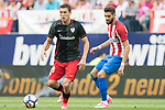 Oscar de Marcos Arana (L) of Athletic Club fights for the ball with Yannick Ferreira Carrasco (R) of Atletico de Madrid during their La Liga match between Atletico de Madrid vs Athletic de Bilbao at the Estadio Vicente Calderon on 21 May 2017 in Madrid, Spain. Photo by Diego Gonzalez Souto / Power Sport Images