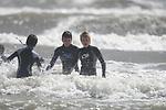 Surfing on Coney Beach