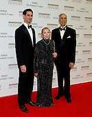 Andrei Karkar, Natalia Makarova, and Edward Karkar arrive for the formal Artist's Dinner honoring the recipients of the 2012 Kennedy Center Honors hosted by United States Secretary of State Hillary Rodham Clinton at the U.S. Department of State in Washington, D.C. on Saturday, December 1, 2012. The 2012 honorees are Buddy Guy, actor Dustin Hoffman, late-night host David Letterman, dancer Natalia Makarova, and the British rock band Led Zeppelin (Robert Plant, Jimmy Page, and John Paul Jones)..Credit: Ron Sachs / CNP