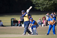 Simon Harmer of Essex drives through the off side during Upminster CC vs Essex CCC, Benefit Match Cricket at Upminster Park on 8th September 2019