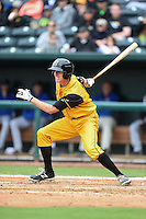Jacksonville Suns  shortstop Danny Black (18) at bat during a game against the Pensacola Blue Wahoos on April 20, 2014 at Bragan Field in Jacksonville, Florida.  Jacksonville defeated Pensacola 5-4.  (Mike Janes/Four Seam Images)