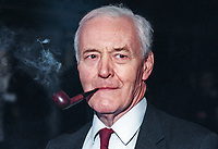 Tony Benn, Tony Wedgwood Benn, MP, Labour Party, UK, Westminster Parliament, 19940915TWB-B.<br /> <br /> Copyright Image from Victor Patterson,<br /> 54 Dorchester Park, <br /> Belfast, UK, BT9 6RJ<br /> <br /> t1: +44 28 9066 1296 (from Rep of Ireland 048 90661296)<br /> t2: +44 28 9002 2446 (from Rep of Ireland 048 9002 2446)<br /> <br /> m: +44 7802 353836<br /> <br /> e: victorpatterson@me.com<br /> www.victorpatterson.com<br /> <br /> Please see my Terms and Conditions of Use at www.victorpatterson.com. It is IMPORTANT that you familiarise yourself with them.<br /> <br /> Images used on the Internet must be visibly watermarked i.e. © Victor Patterson<br /> within the body of the image and copyright metadata must not be deleted. Images <br /> used on the Internet have a size restriction of 4kbs and will be chargeable at current<br />  NUJ rates unless agreed otherwise.<br /> <br /> This image is only available for the use of the download recipient i.e. television station, newspaper, magazine, book publisher, etc, and must not be passed on to any third <br /> party. It is also downloaded on condition that each and every usage is notified within 7 days to victorpatterson@me.com<br /> <br /> The right of Victor Patterson to be identified as the author is asserted in accordance with The Copyright Designs And Patents Act (1988). All moral rights are asserted