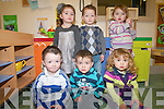 Toddlers who attend Ballyspillane Family Resource Centre played their part in celebrating the first birthday of the childcare services. .Back L-R Alana O'Brien, Killian O'Callaghan and Casey O'Connor .Front L-R William Harrington, Patrick Coffey and Alanna Mangan