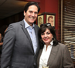 Nick Scandalios and Charlotte St. Martin during the Robert Whitehead Award Ceremony honoring Tom Kirdahy at Sardi's on 5/22/2019 in New York City.