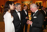 12 March 2019 - London, England - Benedict Cumberbatch, Amal Clooney and George Clooney with Prince Charles, Prince of Wales during a dinner to celebrate The Princes Trust at Buckingham Palace in London. The Prince of Wales, President, The Princes Trust Group hosted a  dinner for donors, supporters and ambassadors of Princes Trust International. Photo Credit: ALPR/AdMedia
