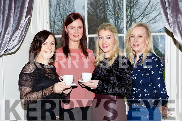Annie and Maureen Daly, Ella O'Sullivan and Catriona Clancy at the Afternoon tea in aid of the Irish Cancer Society to celebrate the reopening on the Great Southern Hotel