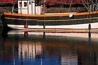 Europe/France/Bretagne/22/Côtes d'Armor/Paimpol: Détail vieux bateau de pêche sur le port