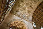 Inside Union Station looking up into the Great Hall ceiling - downtown Toronto