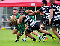 Manawatu v Hawkes Bay Men. Day one of the 2018 Bayleys National Sevens at Rotorua International Stadium in Rotorua, New Zealand on Saturday, 13 January 2018. Photo: Dave Lintott / lintottphoto.co.nz