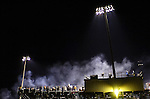 03 November 2006--South Adams at Madison-Grant Sectional Football Championship. Smoke from the burger grill at the concession stand crosses over the grandstand at Madison-Grant before the Argyll's played South Adams for the sectional championship Friday night. PHOTO/Daniel Johnson dhjohnson@marion.gannett.com