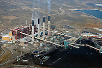 aerial photograph Jim Bridger coal power plant Rock Springs, Wyoming