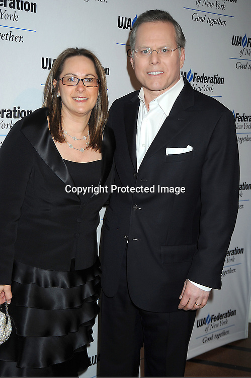 David Zaslav and wife Pam attends the UJA-Federation of New York's Leadership Awards  Steve J Ross Humanitarian Award Dinner honoring David Zaslav, President & CEO of Discovery on April 3, 2012 at 583 Park Avenue in New York City.