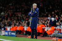 Arsene Wenger of Arsenal looks on during the UEFA Champions League match between Arsenal and PFC Ludogorets Razgrad at the Emirates Stadium, London, England on 19 October 2016. Photo by David Horn / PRiME Media Images.