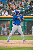Tommy La Stella (5) of the Iowa Cubs at bat against the Salt Lake Bees in Pacific Coast League action at Smith's Ballpark on August 20, 2015 in Salt Lake City, Utah. The Cubs defeated the Bees 13-2. (Stephen Smith/Four Seam Images)