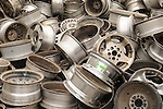 Staimen Recycling Center. Automobile steel wheel rims.