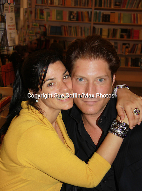 "Michele Vega and The Young and The Restless Sean Kanan ""Deacon"" held a book signing on September 15, 2011 for his new book ""The Modern Gentleman - Cooking and Entertaining with Sean Kanan"" at the Drama Book Shop, New York City, New York. ""Don't just set the table, set the mood.""  In this book ""Sean Kanan, author, actor, producer and self-taught chef offers expert field-tested instruction on how any guy can become a refined, knowledgeable chef."" (Photo by Sue Coflin/Max Photos)"