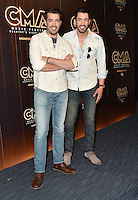 10 June 2016 - Nashville, Tennessee - Jonathan Scott and Drew Scott, Property Brothers. 2016 CMA Music Festival Nightly Press Conference held at Nissan Stadium. Photo Credit: AdMedia
