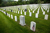 NEW YORK, NY - MAY 25: View of some graves of American soldiers at the Cypress Hill Military Cemetery on May 25, 2020 in Brooklyn, NY. Memorial Day is an American holiday that commemorates the men and women who died while serving in the United States Army. Today this date is celebrated during the Covid-19 pandemic that has caused thousands of deaths in the United States and around the world.  (Photo by Pablo Monsalve / VIEWpress)