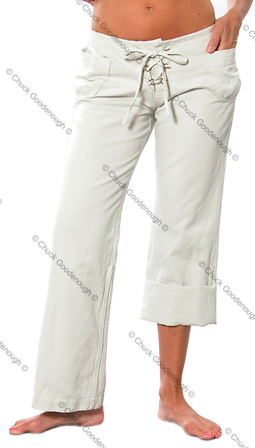 Stock photo of a pair of long women's pants