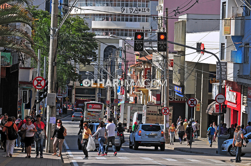 Rua comercial no centro de Sorocaba. São Paulo. 2014. Foto de Marcia Minillo.