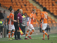 Blackpool's Manager Gary Bowyer  makes a double substitution<br /> <br /> Photographer Mick Walker/CameraSport<br /> <br /> The EFL Sky Bet League One - Blackpool v Bristol Rovers - Saturday 13th January 2018 - Bloomfield Road - Blackpool<br /> <br /> World Copyright &copy; 2018 CameraSport. All rights reserved. 43 Linden Ave. Countesthorpe. Leicester. England. LE8 5PG - Tel: +44 (0) 116 277 4147 - admin@camerasport.com - www.camerasport.com