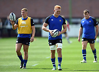 Miles Reid of Bath United looks on during the pre-match warm-up. Premiership Rugby Shield match, between Bristol Bears A and Bath United on August 31, 2018 at the Cribbs Causeway Ground in Bristol, England. Photo by: Patrick Khachfe / Onside Images