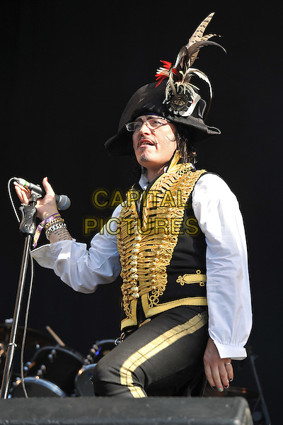 Adam Ant.at Hard Rock Calling concert, Hyde Park, London, England  26th June 2011.performing playing live on stage gig .CAP/MAR.© Martin Harris/Capital Pictures.