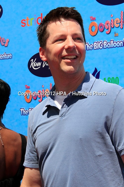 """LOS ANGELES - AUG 19:  Sean Hayes arrives at """"The Oogieloves In The Big Balloon Adventure"""" LA Premiere at Graumans Chinese Theater  on August 19, 2012 in Los Angeles, CA"""