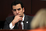 Nevada Sen. Ruben Kihuen, D-Las Vegas, chairs the Committee on Economic Growth and Employment hearing at the Legislature in Carson City, Nev. on Wednesday, March 2, 2011..Photo by Cathleen Allison