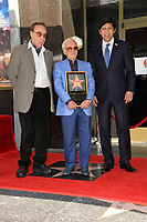 Peter Bogdanovich, Charles Aznavour &amp; Kevin de Leon at the the Hollywood Walk of Fame star ceremony honoring French singer Charles Aznavour on Hollywood Boulevard, USA 24 Aug. 2017<br /> Picture: Paul Smith/Featureflash/SilverHub 0208 004 5359 sales@silverhubmedia.com