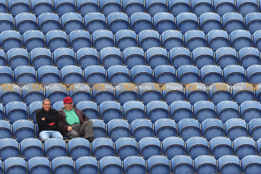 Two spectators look on during Glamorgan CCC vs Essex CCC, Specsavers County Championship Division 2 Cricket at the SSE SWALEC Stadium on 23rd May 2016