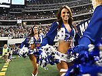 Dallas Cowboys cheerleaders in action during the Thanksgiving Day game between the Miami Dolphins and the Dallas Cowboys at the Cowboys Stadium in Arlington, Texas. Dallas defeats Miami 20 to 19...