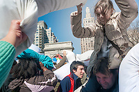 New York, NY 6 April 2013 International Pillow Fight Day in Washington Square Park