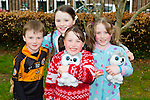 Enjoying the Meadowlands Tralee & Tralee Chamber Alliance Easter Kids Fancy Dress Fun Run at Tralee Town Park on Saturday were Michéal,Emer,Saidh and Caoimhe Cotter from Mounthawk Tralee