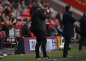 24th March 2018, The Valley, London, England;  English Football League One, Charlton Athletic versus Plymouth Argyle; Plymouth Argyle Assistant Manager Paul Wotton scratching his head in disappointment from the touchline during the 2nd half