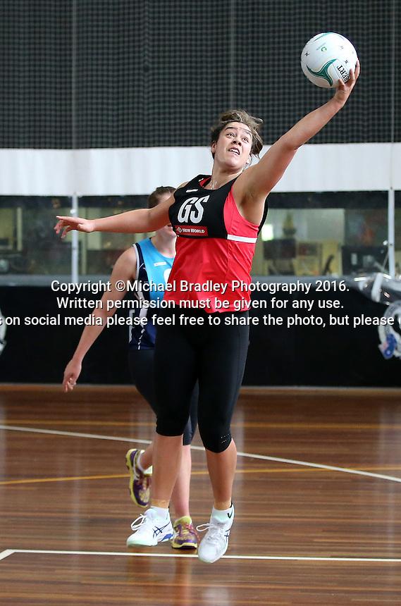 02.09.2016 Silver Ferns Mia Wilson during training in Melbourne Australia. Mandatory Photo Credit ©Michael Bradley.